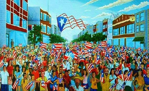 Sea of Flags, Mural de Gamaliel Ramirez