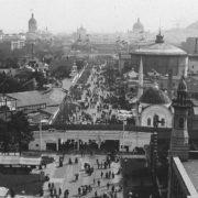 Vista de la World's Columbian Exposition de Chicago de 1893 desde la Ferris Wheel