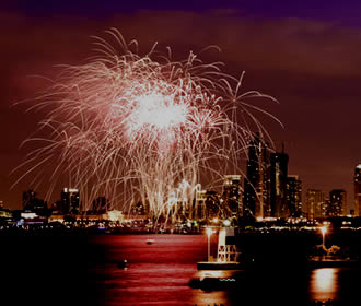 Fuegos Artificiales en Navy Pier