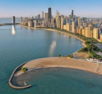 Las playas en Chicago lago Michigan