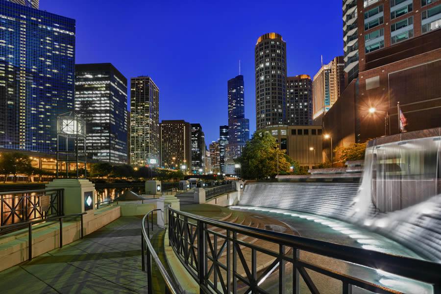 Chicago para enamorados para parejas river walk